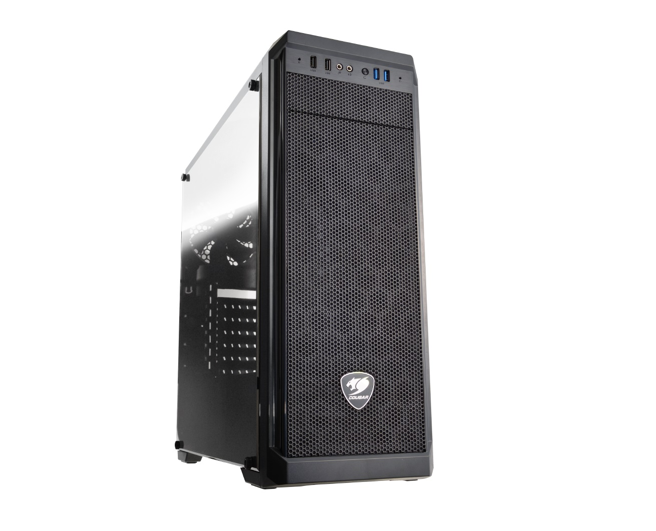 CC-COUGAR Case MX330-G Middle ATX Black Tempered Glass USB 3.0