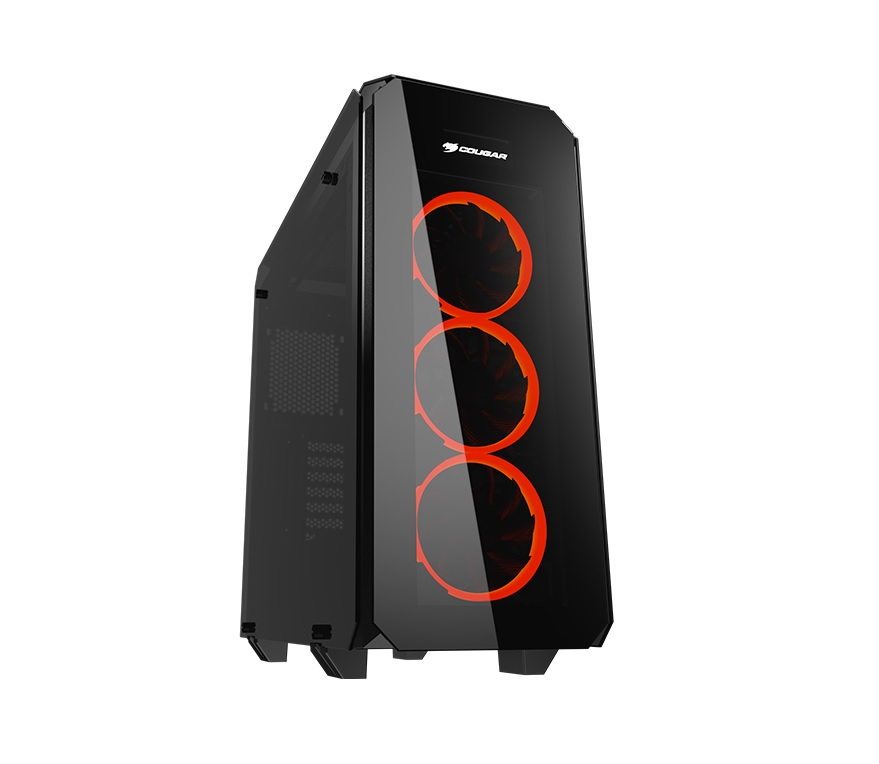 CC-COUGAR Case PURITAS Middle ATX BLACK Tempered Glass USB 3.0