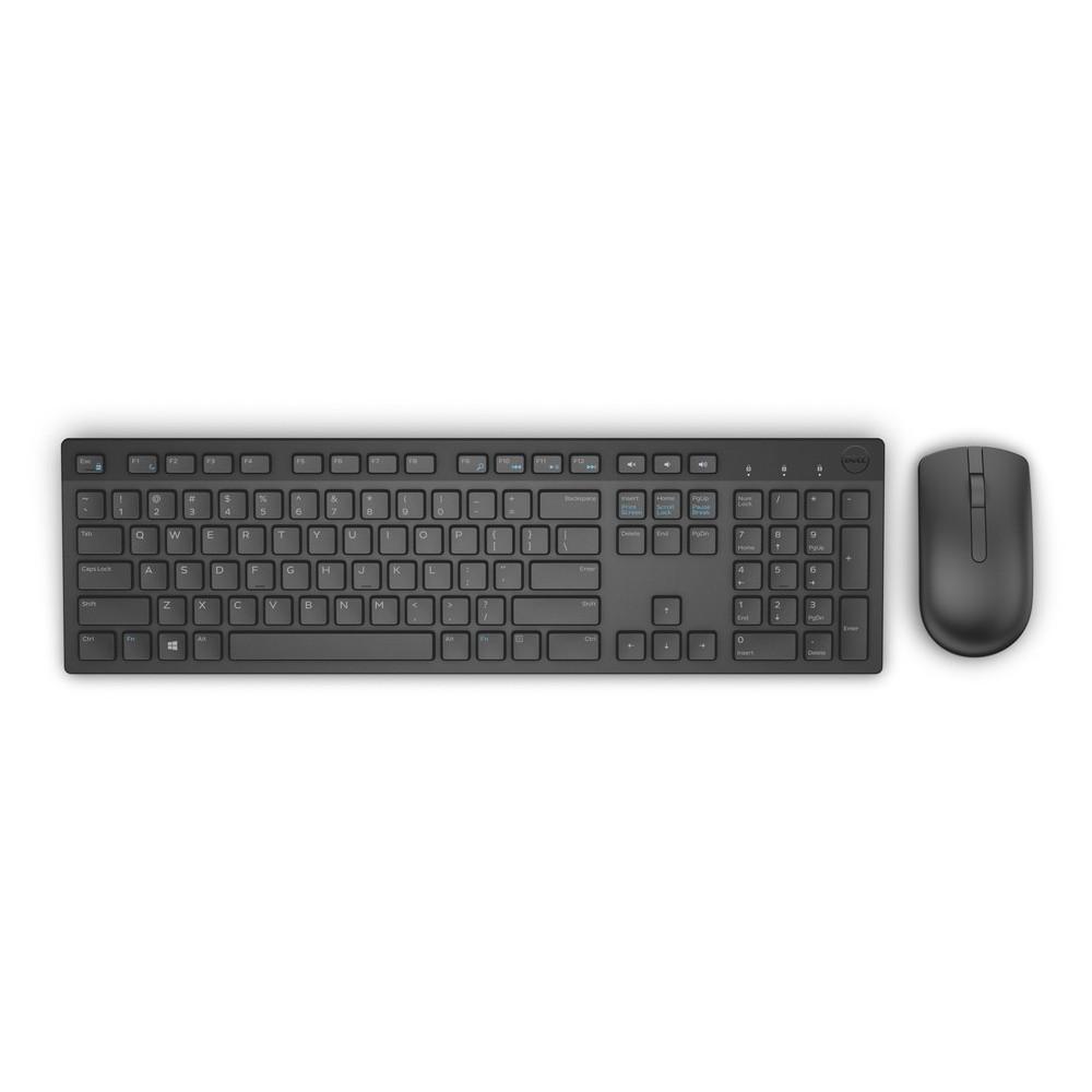DELL Keyboard & Mouse KM636 Greek Wireless, Black