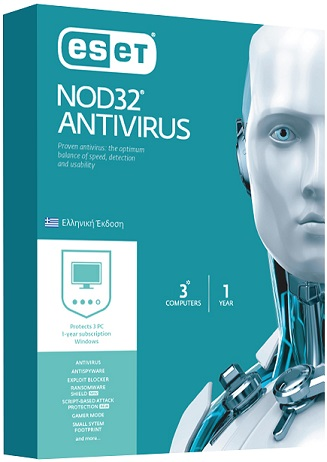ESET NOD32 Antivirus Version 10 -3 Licenses